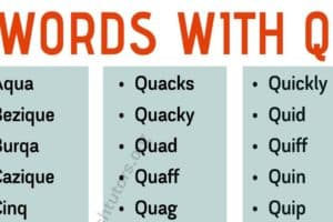 "Words With Q: List of Common English Words with The Letter ""Q"" 8"