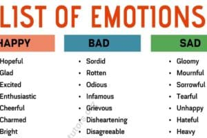List of Emotions: Different Ways to Say What You're Feeling 4