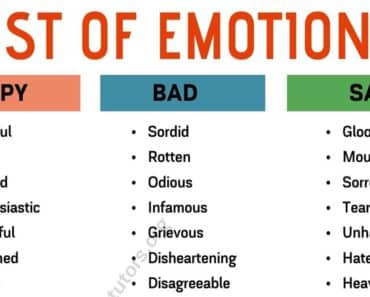 List of Emotions: Different Ways to Say What You're Feeling 1