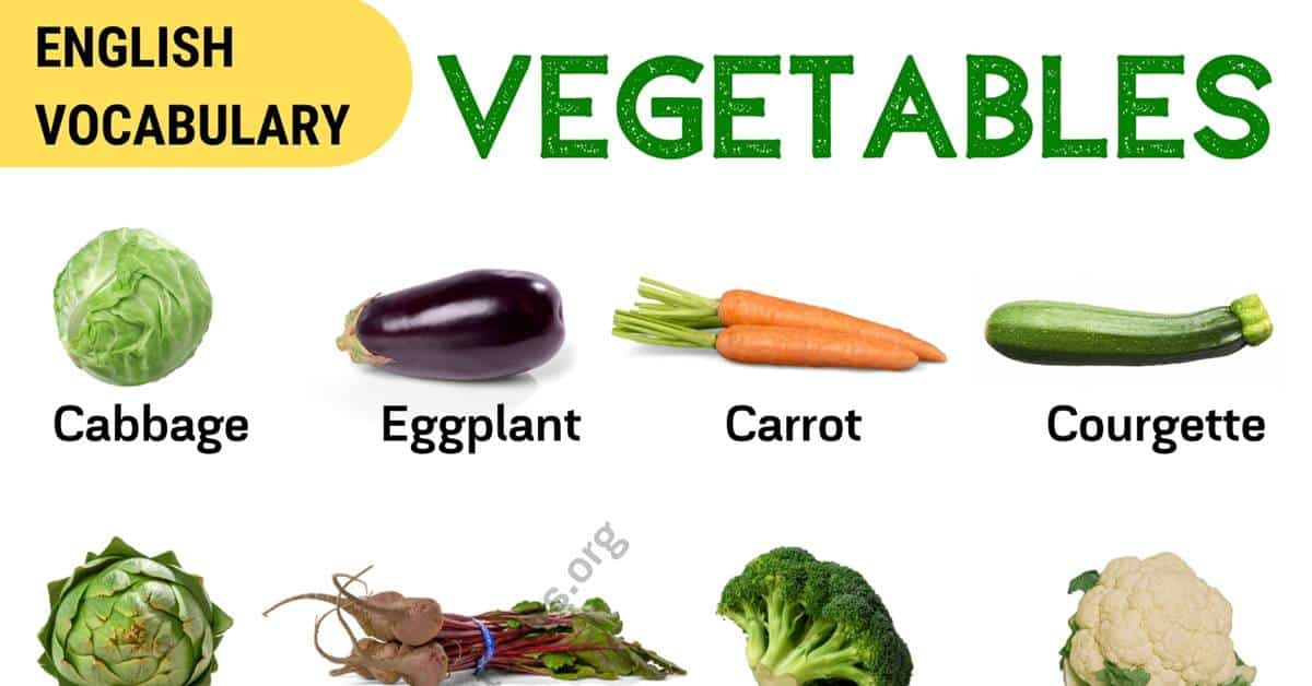 List of Vegetables: Popular Vegetables Names with the Picture! 1