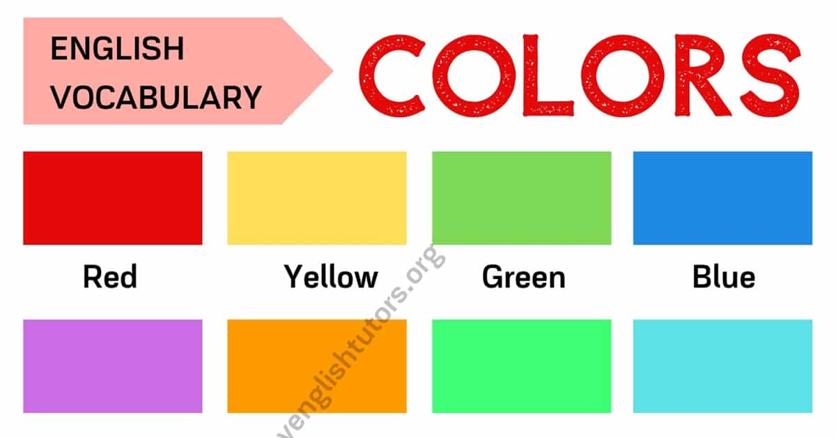 Color Names: List of Colors in English with ESL Picture 2