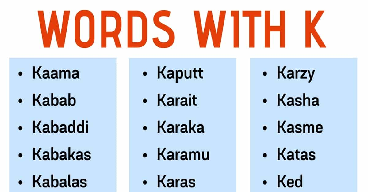 Words that Start with K: List of 250+ K Words with Useful Examples 6