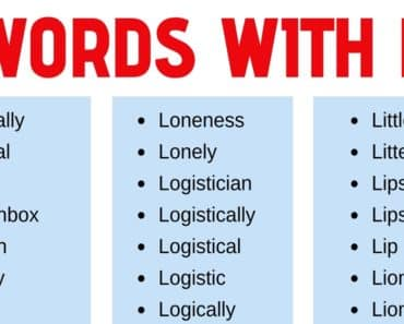 Words that Start with L: List of 180 L Words with Useful Examples 3