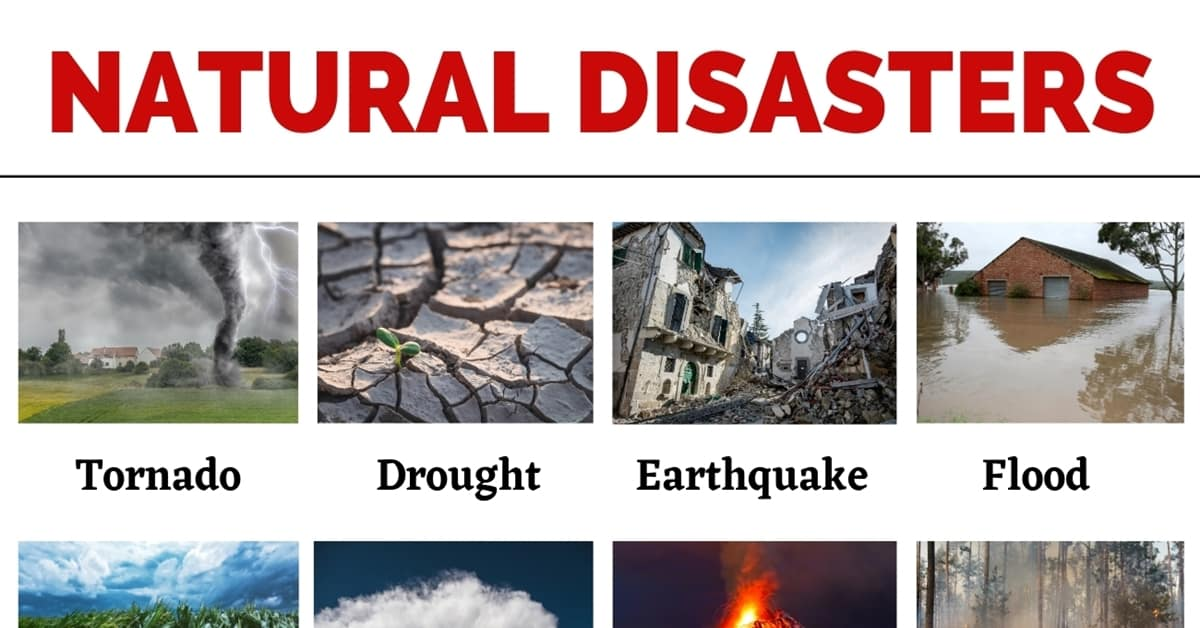 Natural Disasters: List of Common Natural Disasters with the Picture 6