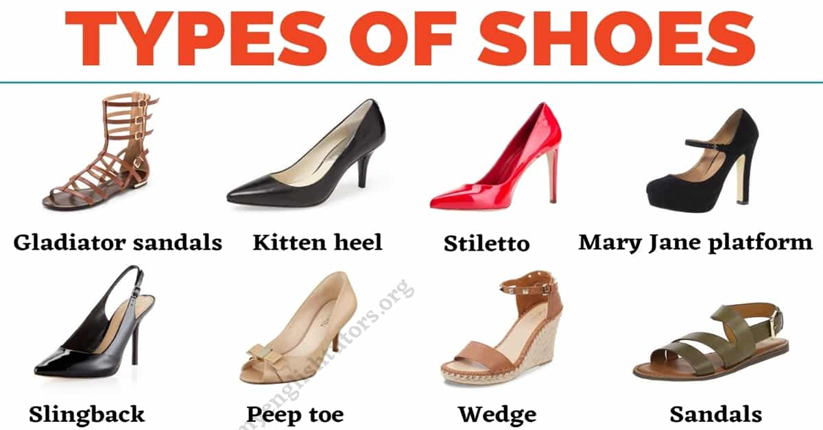 Types of Shoes: List of 35+ Shoe Styles with the Picture! 1