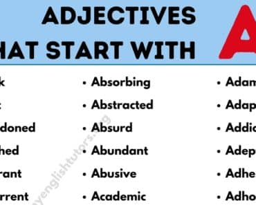 Adjectives that Start with A: List of 135+ Adjectives Starting with A in English 1