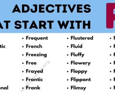 Adjectives that Start with F: Top 110+ Useful Adjectives Starting with F 2