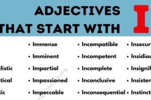Adjectives that Start with I: List of 80+ Useful Adjectives Starting with I 41