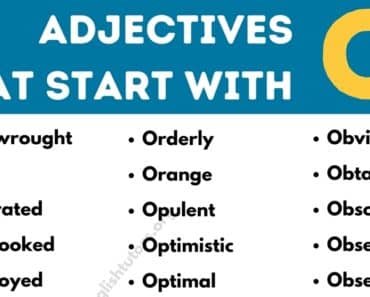 Adjectives that Start with O: Top 50 Useful Adjectives Starting with O 5