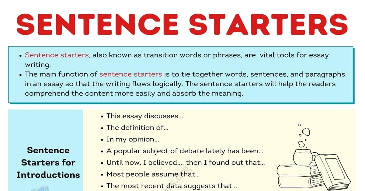 Sentence Starters: Definition, Rules and Remarkable Examples 1