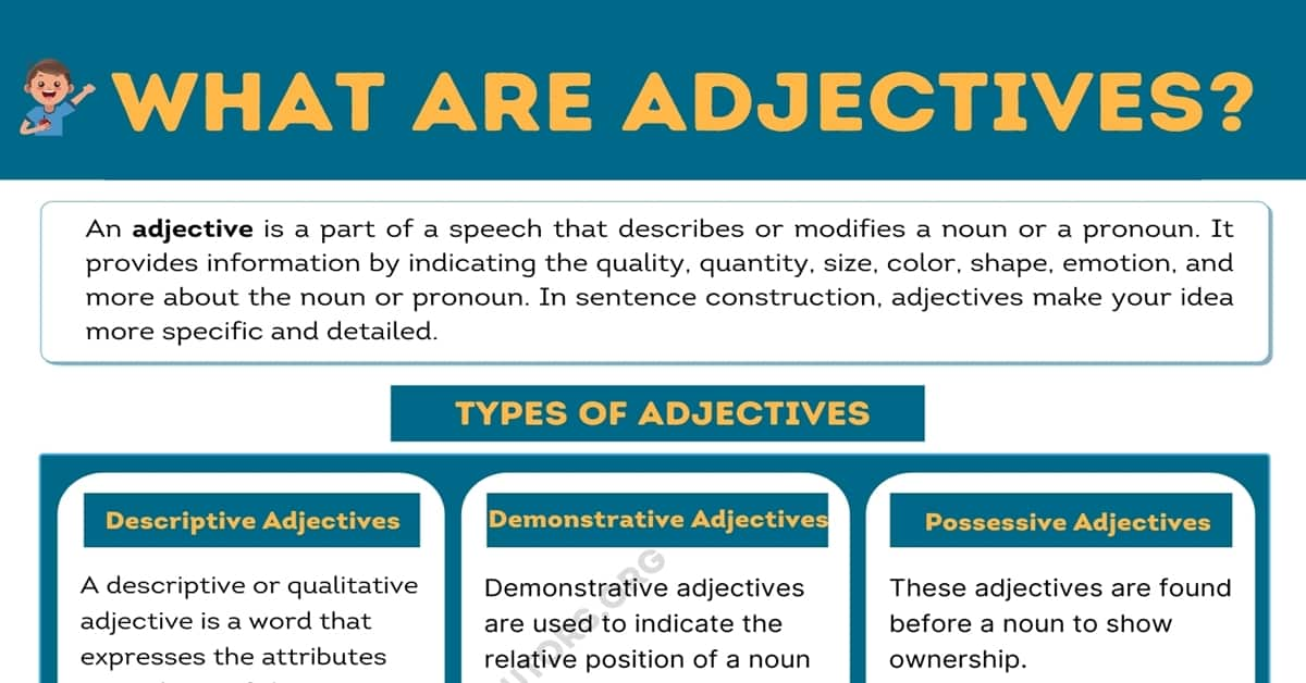 What Are Adjectives? Types of Adjectives & Useful Examples 1
